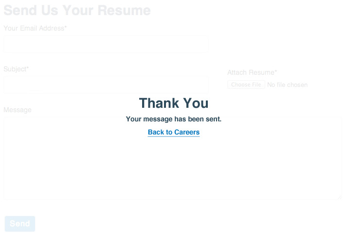 Thanks for submitting your resume