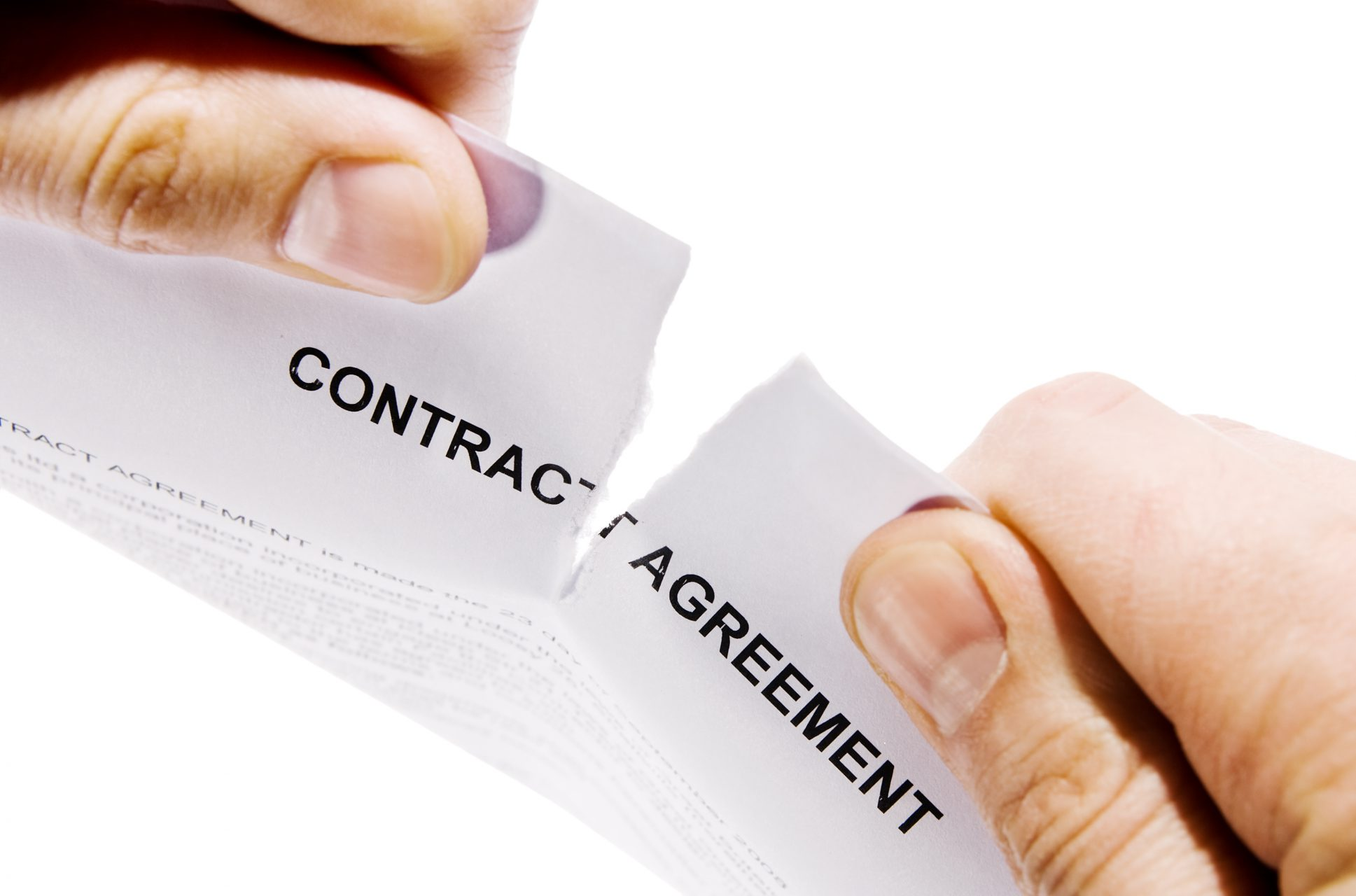two hads break the contract agreement